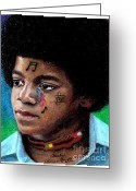 Michael Jackson Pastels Greeting Cards - Notes Of Love Greeting Card by Cassandra Allsworth