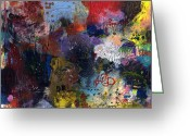 Modern Abstract Art Greeting Cards - Nothing Plain About Vanilla Greeting Card by Michel  Keck