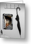 Surreal Photo Greeting Cards - Notice  Greeting Card by Bob Orsillo