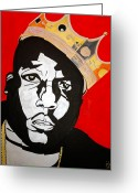 Big Poppa Greeting Cards - Notorious Big Greeting Card by Estelle BRETON-MAYA