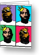 Big Poppa Greeting Cards - Notorious Thugs Greeting Card by Stanley Slaughter Jr