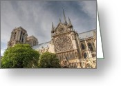 Cathedral Greeting Cards - Notre Dame de Paris Greeting Card by Jennifer Lyon