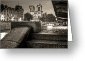 Hdr Look Photo Greeting Cards - Notre-Dame de Paris Greeting Card by Matthieu Godon