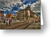 Town Hall Greeting Cards - Nottingham Town Hall Greeting Card by Yhun Suarez