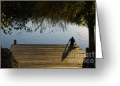 November Sunset Greeting Cards - November afternoon on Lake Austin Greeting Card by Sean Griffin