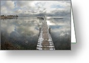 Fyn Greeting Cards - November Skies Greeting Card by Robert Lacy