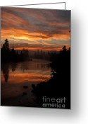 Spokane Greeting Cards - November Sunrise II Greeting Card by Reflective Moments  Photography and Digital Art Images