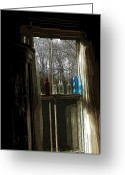 Window Panes Greeting Cards - November Window II Greeting Card by Ross Powell