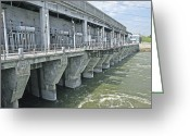 Hydroelectric Greeting Cards - Novosibirsk Hydroelectric Power Station Greeting Card by Ria Novosti