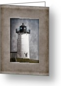 Cape Neddick Light Station Greeting Cards - Nubble Light Maine Greeting Card by Carol Leigh