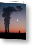 Station Greeting Cards - Nuclear Power Station In Bavaria Greeting Card by Michael Kohaupt