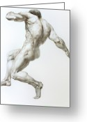 Valeriy Mavlo Drawings Greeting Cards - Nude 1 Greeting Card by Valeriy Mavlo