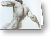 Valeriy Mavlo Drawings Greeting Cards - Nude 1a Greeting Card by Valeriy Mavlo