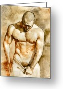 Chris Greeting Cards - Nude 43 Greeting Card by Chris  Lopez
