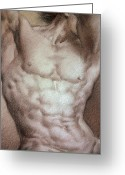 Human Body Symbolism Drawings Greeting Cards - Nude 9 b Greeting Card by Valeriy Mavlo