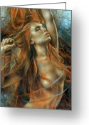 Nude Greeting Cards - Nude dinamik Greeting Card by Arthur Braginsky