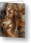 Nudes Greeting Cards - Nude dinamik2 Greeting Card by Arthur Braginsky