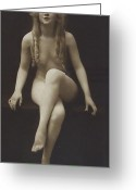 Bw Pyrography Greeting Cards - Nude Girl 1915 Greeting Card by Stefan Kuhn