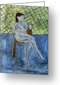 Merchandise Painting Greeting Cards - Nude Greeting Card by Patrick J Murphy