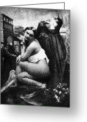 Daguerreotype Greeting Cards - NUDE POSING, c1843 Greeting Card by Granger