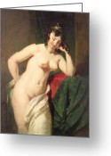 Short Hair Greeting Cards - Nude Greeting Card by William Etty