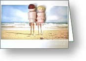 Fisher Price Little People Greeting Cards - Nudists Greeting Card by Ricky Sencion