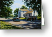 Woody Wagon Greeting Cards - Nugents Cross Roads Greeting Card by Frank Dalton