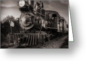 Locomotive Greeting Cards - Number 4 Narrow Gauge Railroad Greeting Card by Bob Orsillo