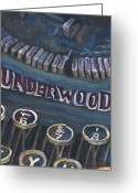 Typewriter Keys Greeting Cards - Number 7 Greeting Card by Barb Pearson