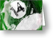 Fourteen Greeting Cards - Number Fourteen Billiards Ball Abstract Greeting Card by David G Paul
