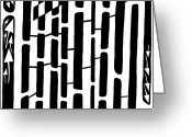 Learn To A Maze Greeting Cards - Number One Maze Greeting Card by Yonatan Frimer Maze Artist