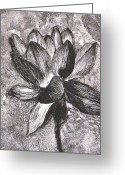Petals Reliefs Greeting Cards - Number One Greeting Card by Sabrina McGowens