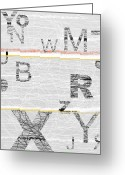 Tasteful Greeting Cards - Numbers Grey Greeting Card by Irina  March
