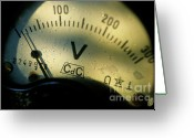 Accurate Greeting Cards - Numbers on the dial of a voltmeter Greeting Card by Sami Sarkis