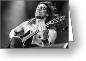 Live Music Greeting Cards - Nuno Bettencourt live 2012 Greeting Card by Lidia Sharapova