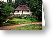 Convent Greeting Cards - Nuns House in Agapia Greeting Card by Sarah Loft
