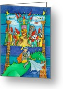 Childsroom Greeting Cards - Nursery Artwork Knight Greeting Card by Sonja Mengkowski