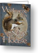 Nutty Greeting Cards - Nut House Greeting Card by JQ Licensing