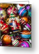 Ribbons Greeting Cards - Nutcraker ornament Greeting Card by Garry Gay