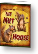 Crazy Greeting Cards - Nuthouse Greeting Card by JQ Licensing