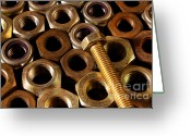 Equipment Greeting Cards - Nuts and Screw Greeting Card by Carlos Caetano