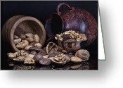 Still Life Greeting Cards - Nuts Greeting Card by Tom Mc Nemar