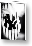 Ny Yankees Baseball Art Greeting Cards - NY Pride Greeting Card by John Rizzuto