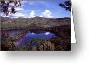 Uganda Greeting Cards - Nyambuga Crater Lake, Uganda Greeting Card by David Pluth