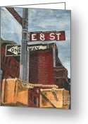 Street Light Greeting Cards - NYC 8th Street Greeting Card by Debbie DeWitt