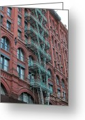 Randi Shenkman Greeting Cards - NYC Architecture 1 Greeting Card by Randi Shenkman