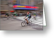 Td Greeting Cards - NYC Bike Tour Greeting Card by Susan Candelario