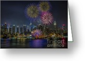The City Greeting Cards - NYC Celebrates Fleet Week Greeting Card by Susan Candelario