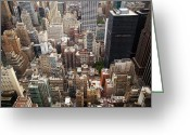 Nina Greeting Cards - NYC Cityscape Greeting Card by Nina Papiorek