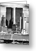 Cruise Ships Greeting Cards - NYC Cruise Ships Greeting Card by John Rizzuto